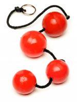 Огромные анальные шарики 4 штуки красные
