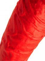 двусторонний силиконовый фаллос ксрасного цвета