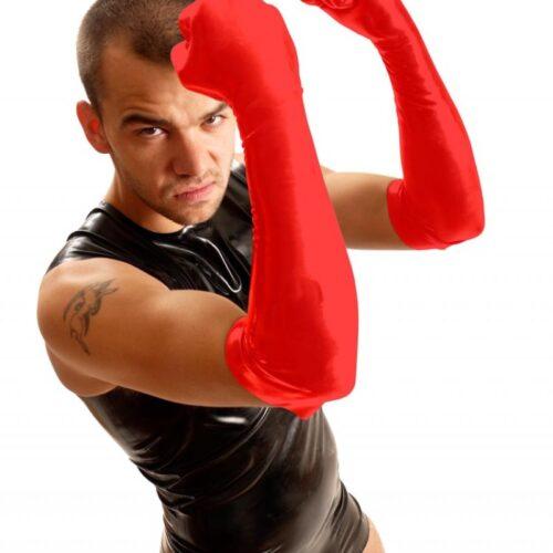 Резиновые перчатки для фистинга длинные