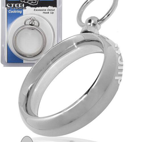 Стальное эрекционное кольцо на член и мошонку