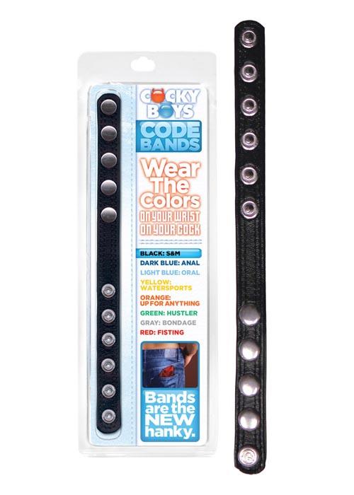 Кожаный Код - Браслет для BDSM и эрекционное кольцо