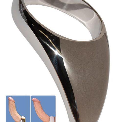 Стальное кольцо - капля на член и мошонку Teardrop