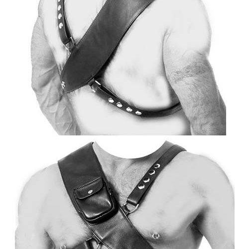 Leather Harness на тело с карманом
