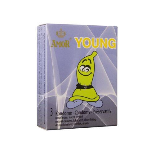 Презервативы Amor Young для мужчин с маленьким пенисом 3шт.