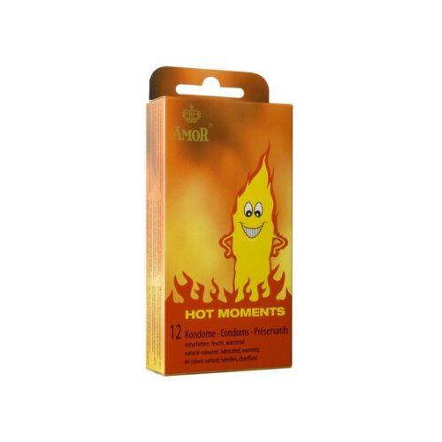 Amor Hot Moments разогревающие презервативы для мужчин